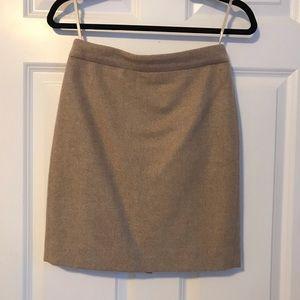 J. Crew Wool Pencil Skirt in Beige